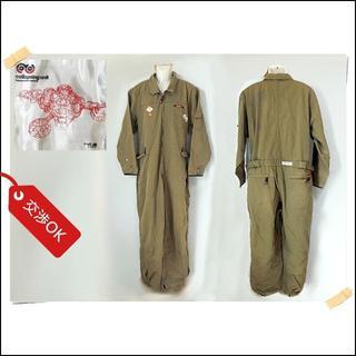 エコーアンリミテッド(ECKŌ UNLTD(ECKO UNLTD))の【ecko】 美品 エコー ブラウン ツナギ 作業服 綿70% サイズXL(サロペット/オーバーオール)