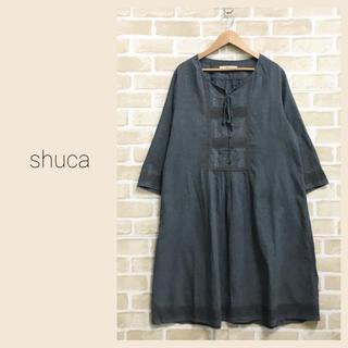 シュカ(shuca)の【shuca】レース付きワンピース  シュカ(ひざ丈ワンピース)