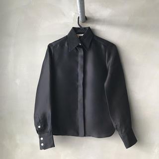 18ce45be5c31 セリーヌ(celine)のCELINE セリーヌ フィービー期 シルク ブラック シャツ(シャツ/ブラウス