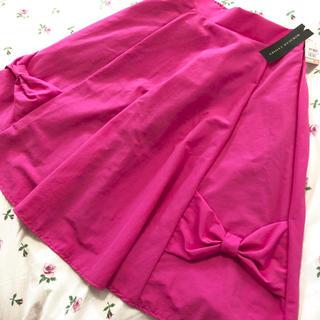シマムラ(しまむら)の新品タグつき リボンスカート♡ミラクルクローゼット(ひざ丈スカート)