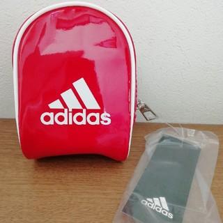 アディダス(adidas)のadidas  ポーチ レッド (ポーチ)