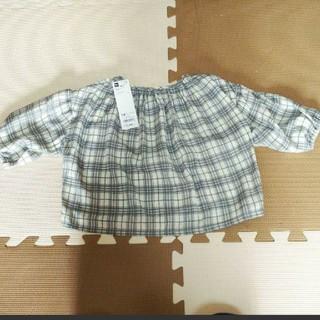 ジーユー(GU)の新品 GU ブラウス カットソー 110(Tシャツ/カットソー)