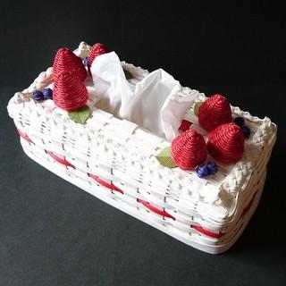 いちごケーキみたいなティッシュケース/ティッシュボックス(その他)