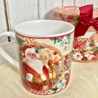 可愛い箱付 クリスマスマグカップ サンタクロース