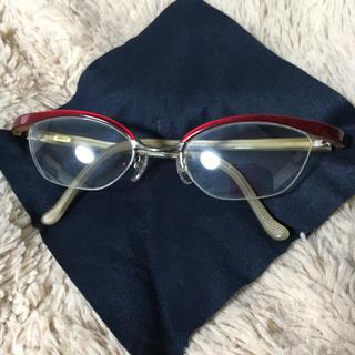 フォーナインズ(999.9)の999.9フォーナインズ ミックスフレーム 赤×カーキ(サングラス/メガネ)