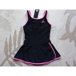 アディダス(adidas)の新品タグ付♪160♪アディダスadidasスカート付ワンピース水着♪黒×ピンク(水着)