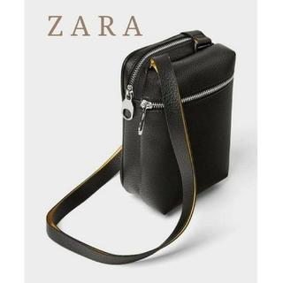 ザラ(ZARA)のZARA ザラ ボディーバッグ ミニ ショルダーバッグ ブラック レザー ポーチ(ボディーバッグ)