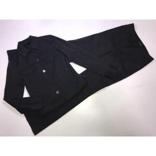 バーバリー(BURBERRY)のバーバリーロンドン黒チェックスーツ上下セットジャケット&パンツ38号36号M(スーツ)