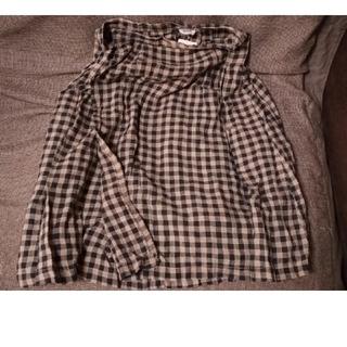 アーメン(ARMEN)のARMEN リネンチェック柄巻きスカート(その他)