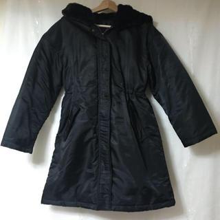 ジーユー(GU)の中綿ミリタリーコート GU ブラック Sサイズ ダウンコート ロングコート(ロングコート)