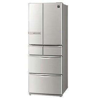 シャープ(SHARP)の冷蔵庫 シャープ シャインシルバー プラズマクラスター フレンチドア(冷蔵庫)