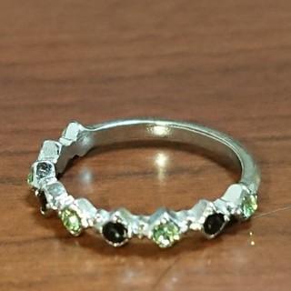 ライトグリーン ブラック 指輪(リング(指輪))