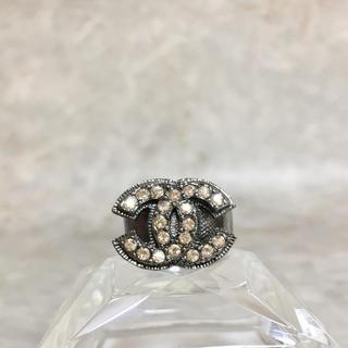 シャネル(CHANEL)のsora-mama様 専用 シャネル 指輪 ミル打ち ココマーク ラインストーン(リング(指輪))