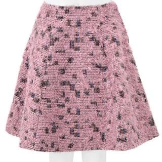 チェスティ(Chesty)の値引きします!チェスティ ♡ ツイード ピンク スカート(ひざ丈スカート)