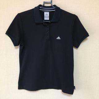 アディダス(adidas)のアディダス  ポロシャツ  黒地(ポロシャツ)