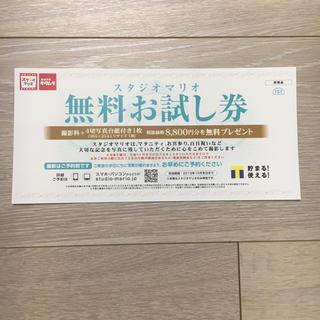 ☆匿名配送☆スタジオマリオ 無料お試し券(その他)