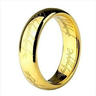 ロードオブザリング 刻印リング☆ゴールド 単品(リング(指輪))