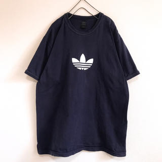 90s 希少 adidas  ワンポイント ロゴ ビンテージ Tシャツ