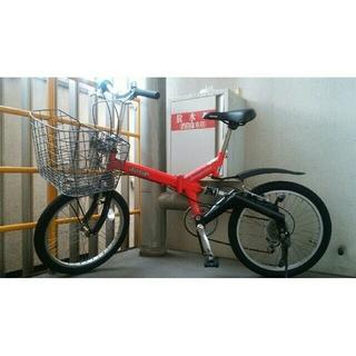ジープ(Jeep)のたっちさん専用【大阪市 引き取り限定】ジープJeep 自転車20インチ 赤(自転車本体)