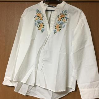しまむら - ブラウス M 刺繍シャツ スキッパーシャツ