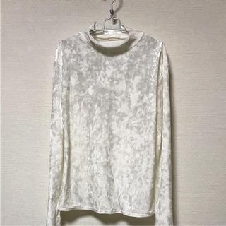 ジーユー(GU)のGUクラッシュベロアハイネックT長袖(Tシャツ(長袖/七分))