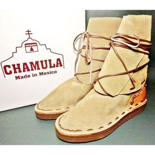 ♂【新品】CHAMULA  クリ―ブーツ 24cm ベージュ スウェード(ブーツ)