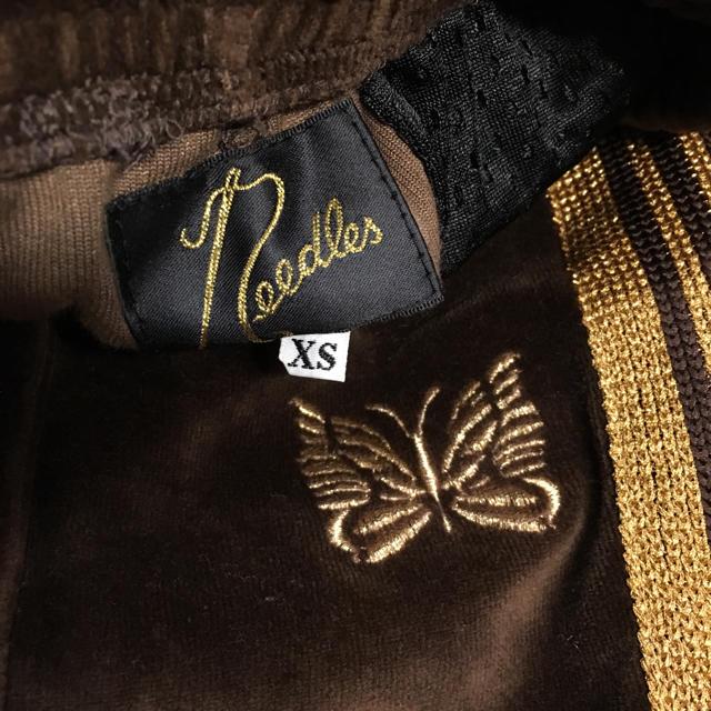 Needles(ニードルス)のneedles ニードルス ナロー トラックパンツ ベロア メンズのパンツ(その他)の商品写真