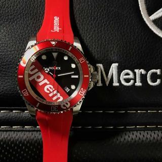 wholesale dealer 899c7 c2a92 ロレックス X シュプリーム ROLEX SUPREME 腕時計 自動巻き | フリマアプリ ラクマ