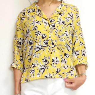 ジーユー(GU)の【GU】プリントオープンカラーシャツ(シャツ/ブラウス(半袖/袖なし))