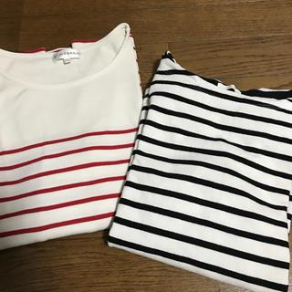 ジーユー(GU)の美品☆ボーダーTシャツ(Tシャツ(長袖/七分))