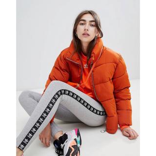 アディダス(adidas)の【 Lサイズ】新品タグ付き アディダス adidas レギンス 送料込 グレー(レギンス/スパッツ)