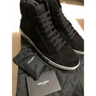 Saint Laurent - Saint Laurent サンローラン メンズ ロゴ スニーカー 靴 ブラック