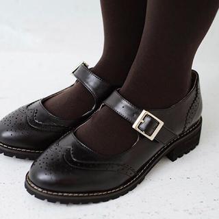 ハコ(haco!)のオンナノコ ウィング チップ シューズ(ローファー/革靴)