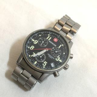 ウェンガー(Wenger)の【ウェンガー WENGER】腕時計 クロノグラフ スイス製 100m防水(腕時計(アナログ))