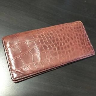 エービーエックス(abx)の長財布 メンズ クロコ ブラウン(長財布)
