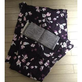 ユニクロ(UNIQLO)のユニクロ 浴衣 フリーサイズ 紫(浴衣)