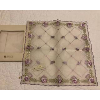 高級 シルク 刺繍 ハンカチ 1等級シルク (ハンカチ)