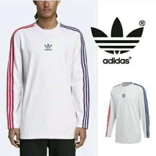 アディダス(adidas)のアディダス 3ストライプ ロングTシャツ メンズ adidas  スエット(Tシャツ/カットソー(七分/長袖))