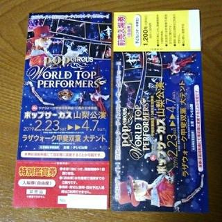 ポップサーカス山梨公演 入場券2枚セット(大人1枚子ども1枚)(サーカス)
