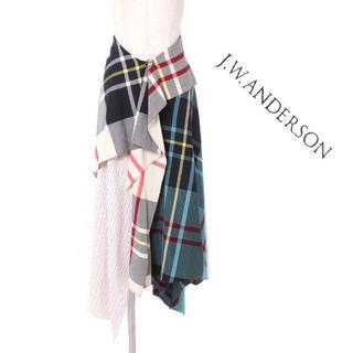 ジェイダブリューアンダーソン(J.W.ANDERSON)のJ.W.ANDERSON アシンメトリー チェック スカート size34(EU(その他)