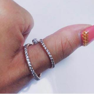アーカー(AHKAH)の親指 ダイヤリング k18 pg(リング(指輪))