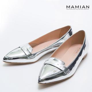 マミアン(MAMIAN)のMAMIAN ポインテッドローファー(ローファー/革靴)