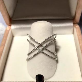 18金ホワイトゴールドのダイヤモンドリング(リング(指輪))