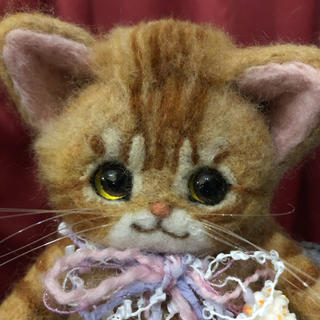 羊毛フェルト作品 子猫(ぬいぐるみ)