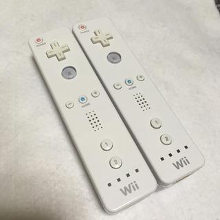 ウィー(Wii)のWii リモコン ホワイト 白 2個 セット g(その他)