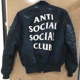 シュプリーム(Supreme)のMサイズ anti social social club MA-1(ミリタリージャケット)