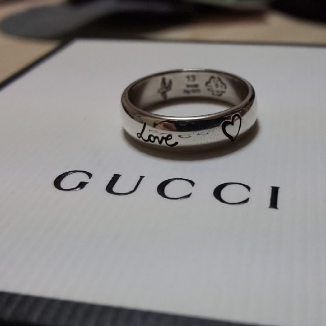 041e4481f585 Gucci - GUCCI blind for love リング 13号表記の通販 by みさ's shop ...