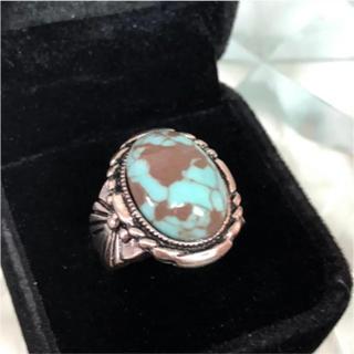 天然石 ターコイズ 21号 リング 指輪 S925 刻印あり(リング(指輪))