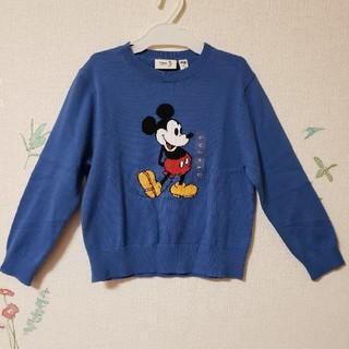 ディズニー(Disney)の専用 新品 ミッキー セーター ユニクロ ディズニー キッズ 120 春 秋 冬(ニット)