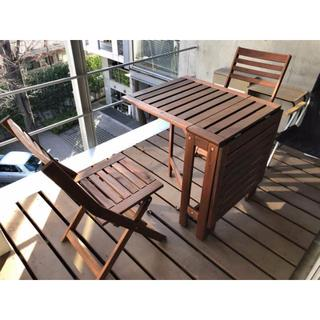 イケア(IKEA)の【中古】IKEA  APPLARO ガーデニングテーブル 折りたたみ式(アウトドアテーブル)